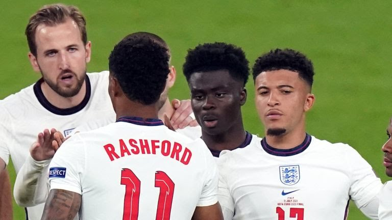 Euro 2020: Saka, Sancho, Rashford Suffer Racial Abuse After England's Defeat To Italy
