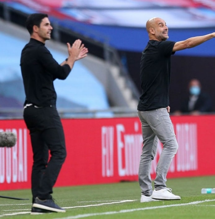 Guardiola Urges Support For Under- Pressure  Arteta Ahead Man City Vs Arsenal