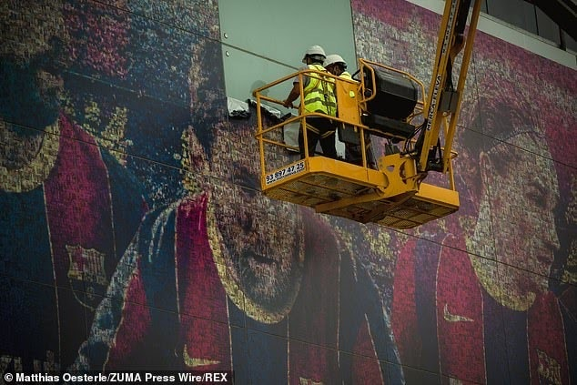 Messi Posters Torn Down From Outside Nou Camp Stadium