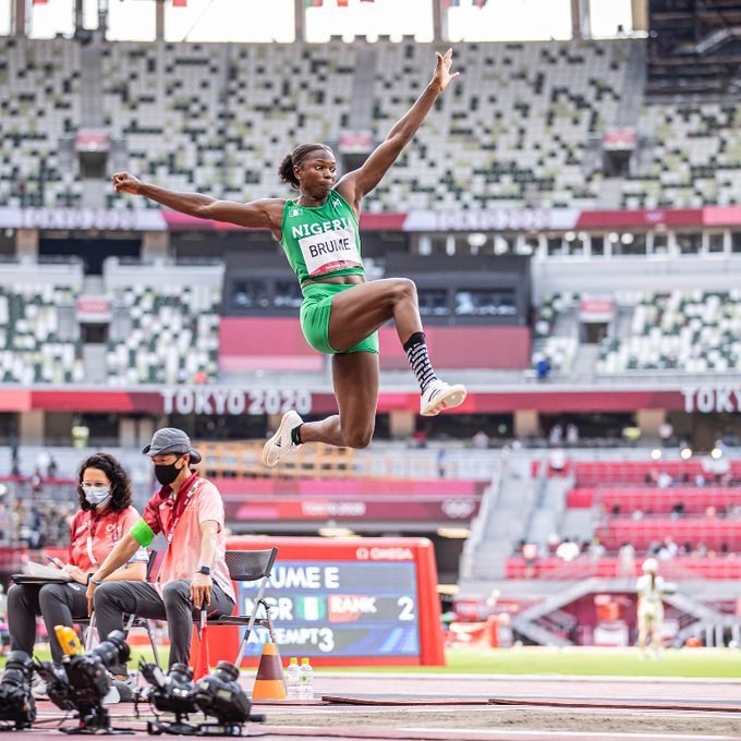 """""""I Never Settled For Less"""" Says Brume After Winning Long Jump Bronze in Tokyo"""
