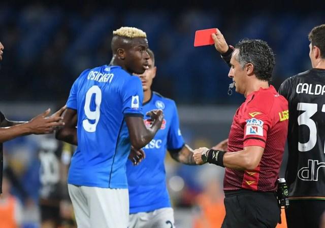 Ex-Napoli Star Calaio: Osimhen's Dismissal Vs Venezia Was Excessive