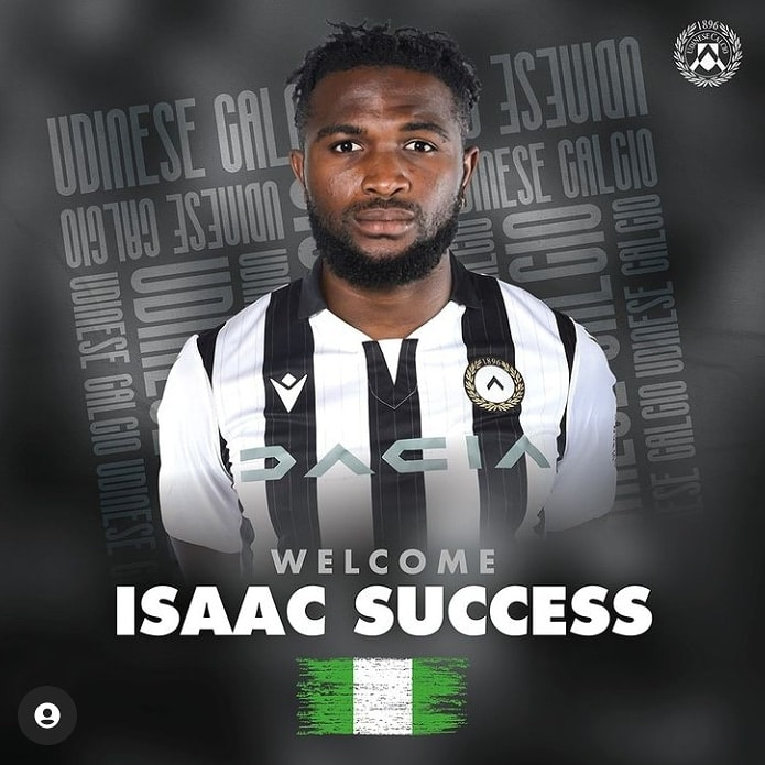 Isaac Success  Ready For New Challenge At Udinese