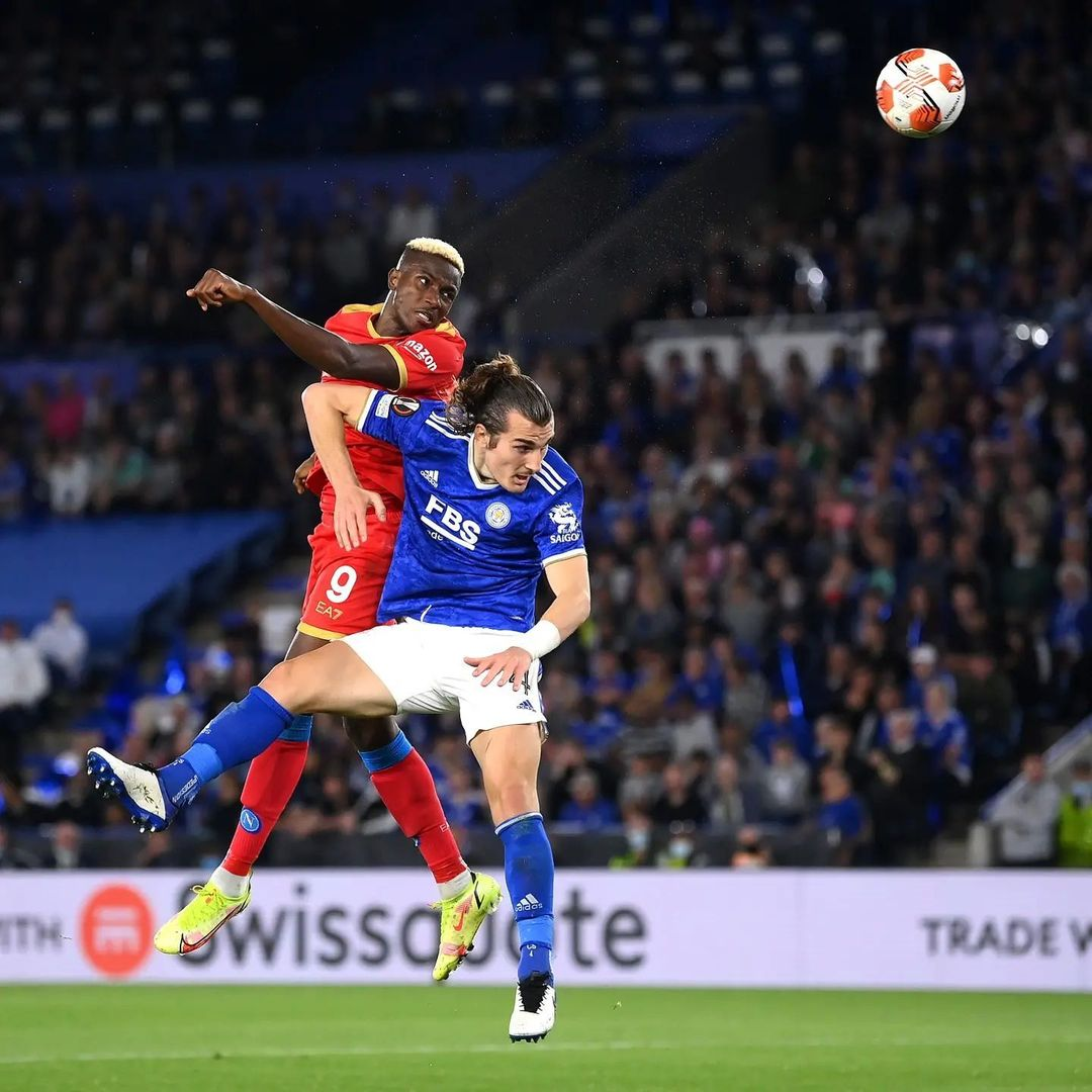 'I Want To Continue Proving My Worth' – Osimhen Reacts After Netting Brace In Napoli's Draw At Leicester