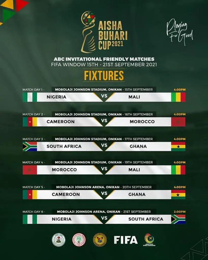 Aisha Buhari Cup: Organisers Release Updated Fixtures