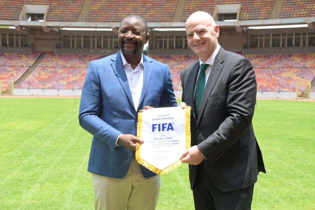 FIFA  Boss Infantino Salutes Nigeria's Committment To Football, Excited with Moshood Abiola Stadium