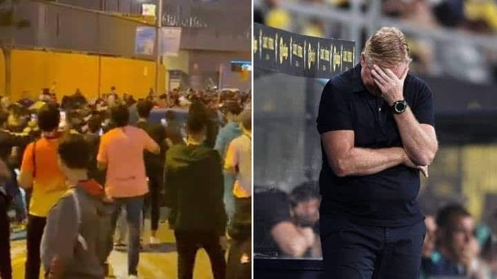 El Clasico: Angry Barcelona Fans Attack Koeman's Car After Defeat To Real Madrid