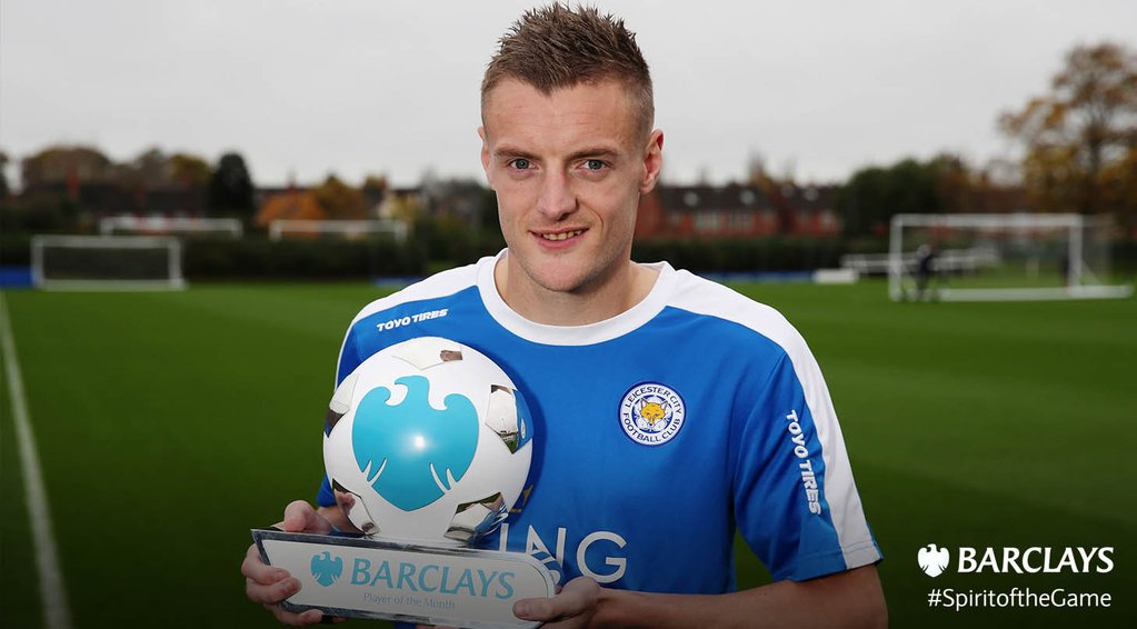 Vardy Beats Ighalo, Ozil To October Player Of The Month