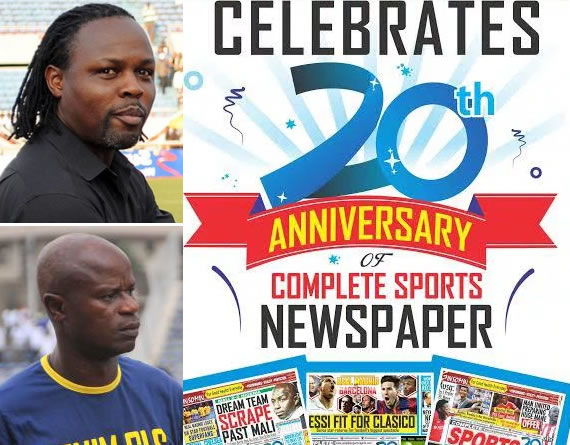 Ikpeba, Adepoju Congratulate Complete Sports On 20th Anniversary