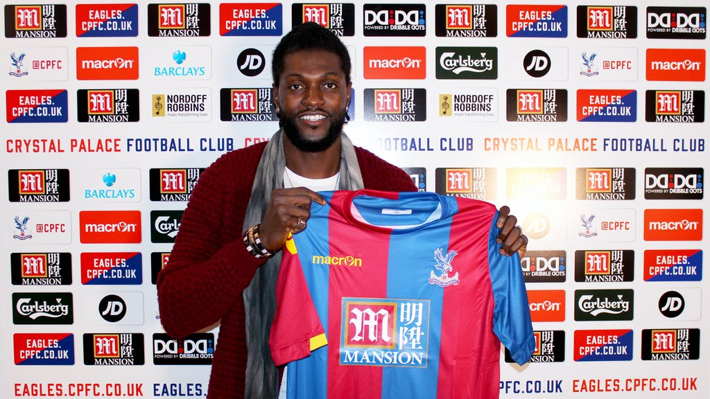 Adebayor Joins Crystal Palace, Gets Jersey No.25