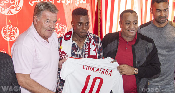 Wydad Finally Unveil Chikatara, Hand Him No.10 jersey