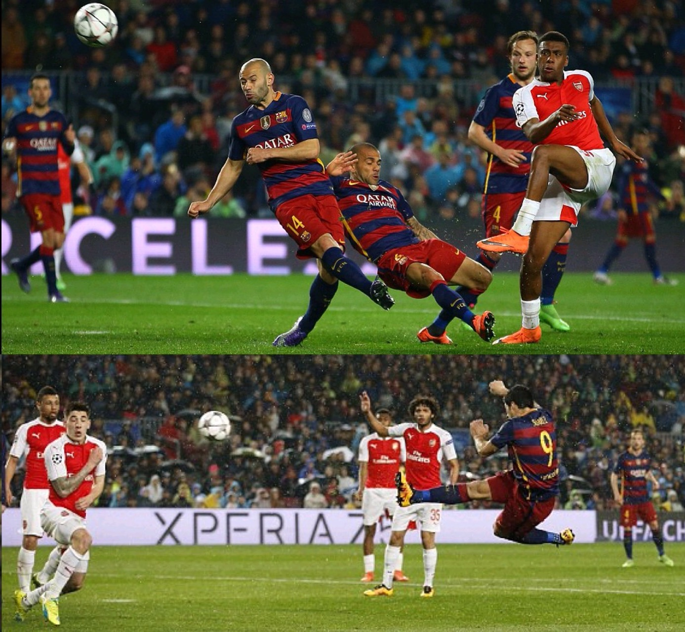 Iwobi Stars, But Barcelona Finally Dump Arsenal Out Of UCL