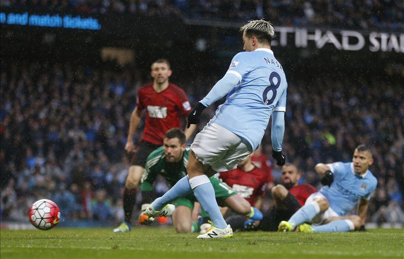 Nasri Strike Gives City Victory Over Stubborn West Brom