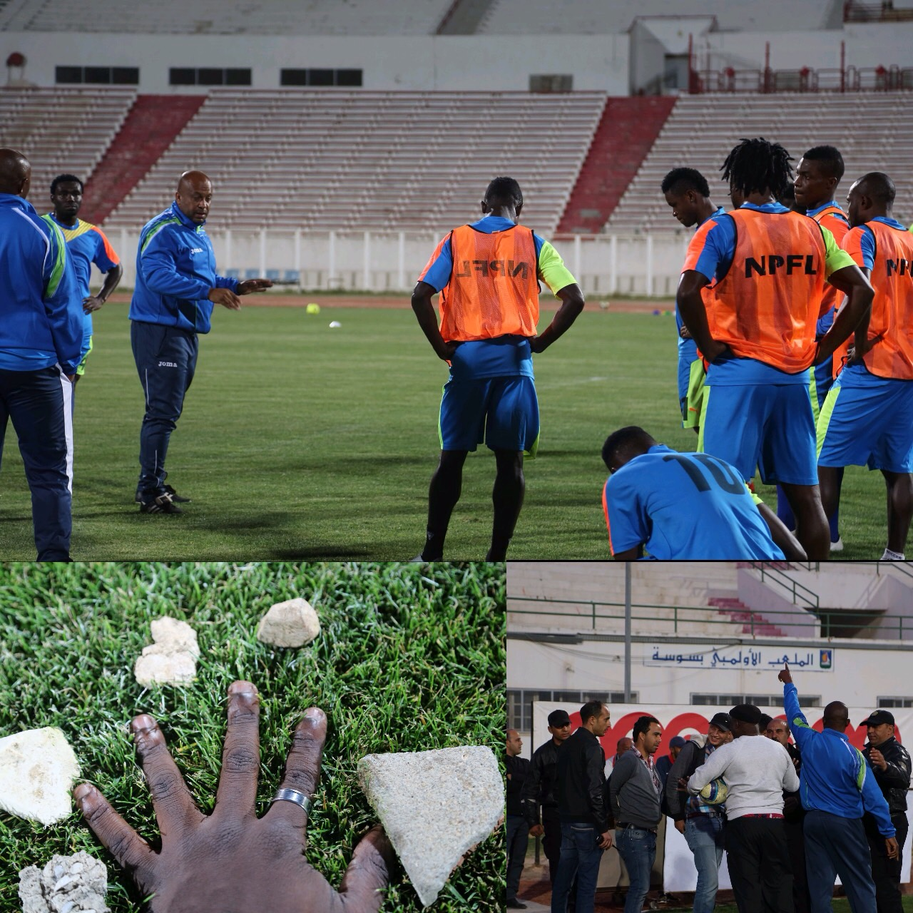 Enyimba Stoned During Training In Sousse