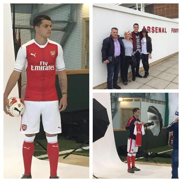 LEAKED PHOTOS: Arsenal Set To Announce Xhaka Signing
