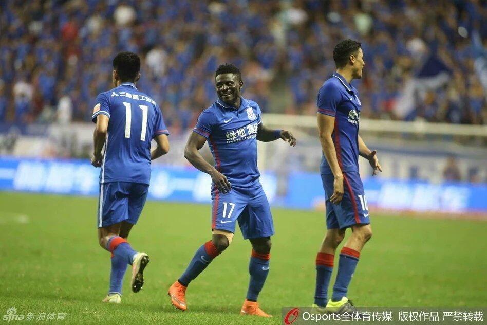 Martins Scores Goal No.4 In Shenhua Defeat