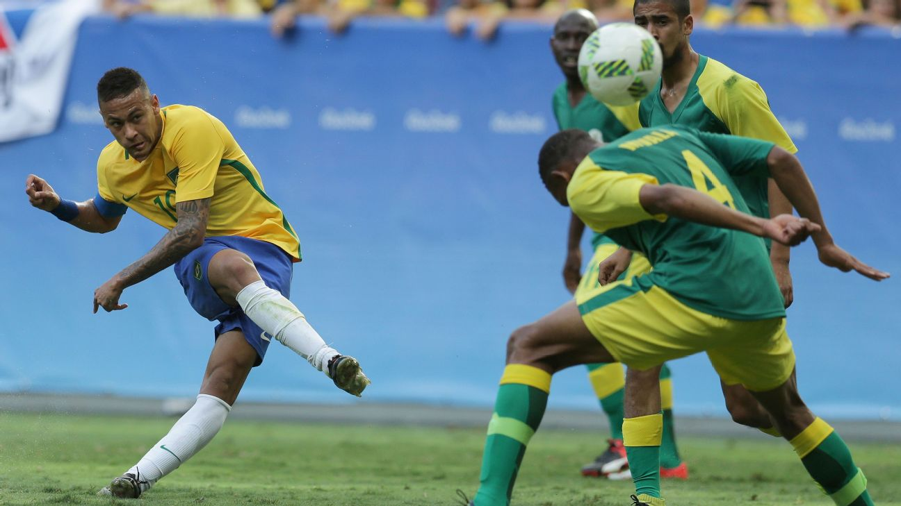 10-Man South Africa Hold Neymar-Led Brazil