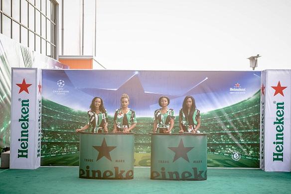 Heineken models at the event in landmark