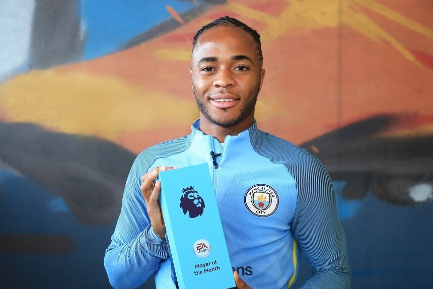 Sterling Voted EPL Player Of The Month Over Hazard, Valencia