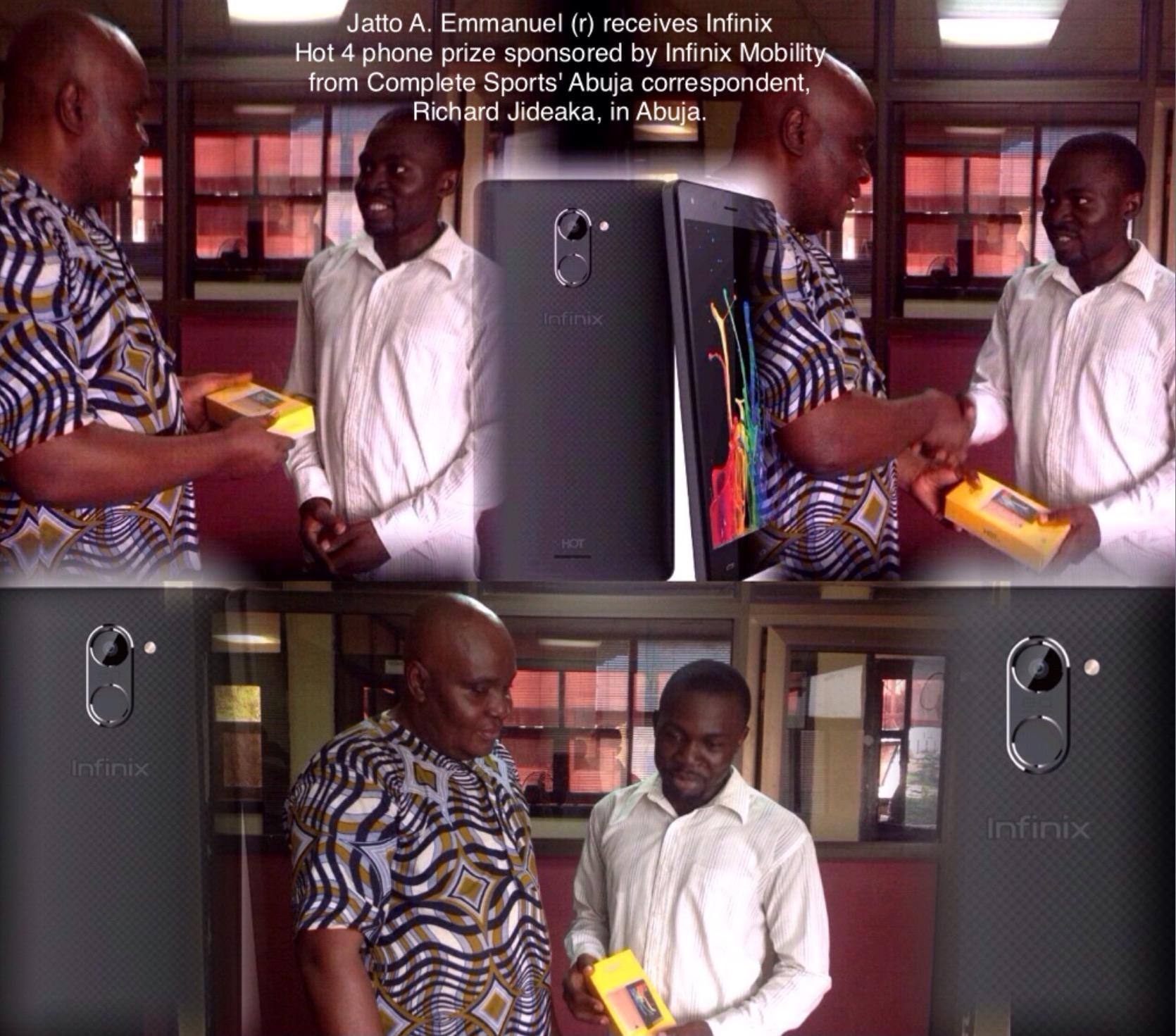 Infinix Hot Match: Abuja-Based Winner Receives Infinix Hot 4 Prize!