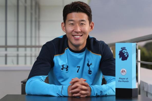 Image result for pic of son and klopp win september awards