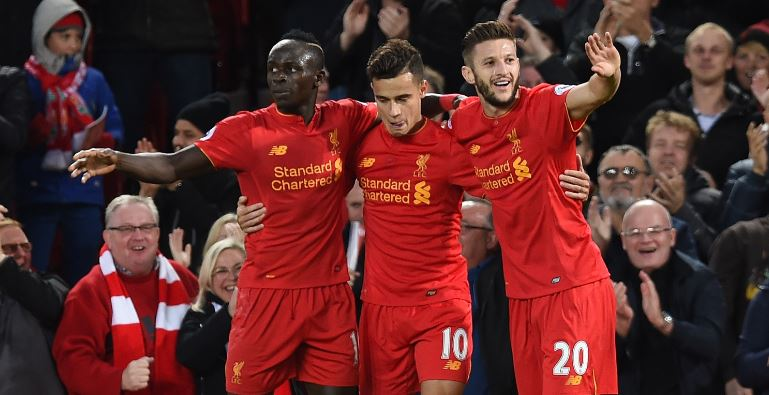 Mane, Coutinho Fire Liverpool Past West Brom