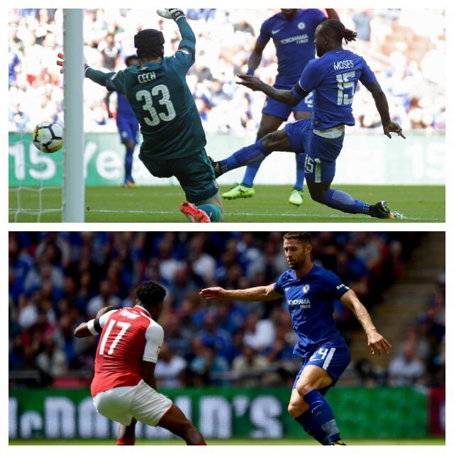 Moses Ends Goal Drought, Iwobi Shines As Arsenal Win Community Shield