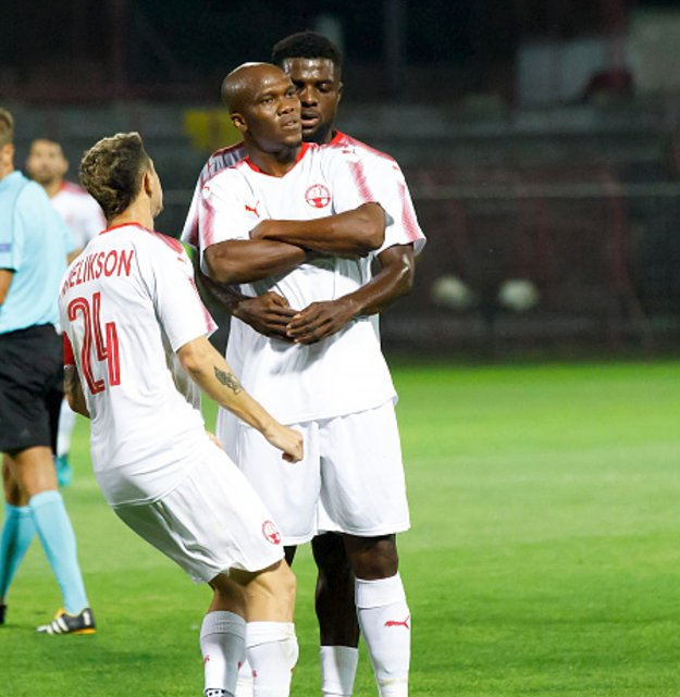 UCL: Nwakaeme Scores Screamer, Ogu Shines As Hapoel Win; Olympiacos Drop Emenike