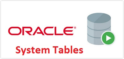 Oracle system tables