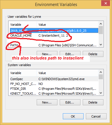 How to set oracle_home path?