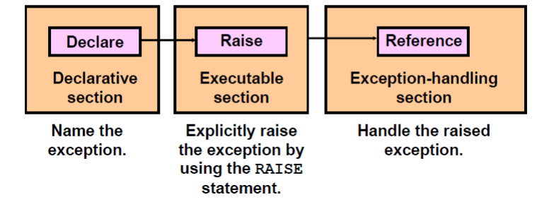 user defined exceptions