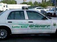 lotto killa sheriff's car