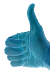 Thumbs-up approved with a blue filter