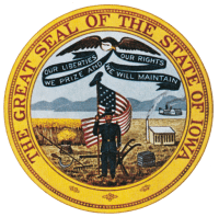 the great seal fo the state of iowa