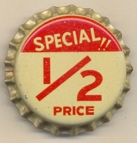 half-price advertisement