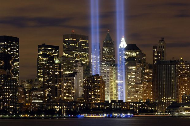 """""""Tribute in Light"""" from the US Air Force"""