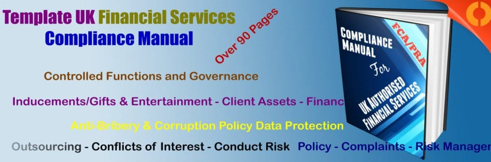 compliance manual template fca pra financial services