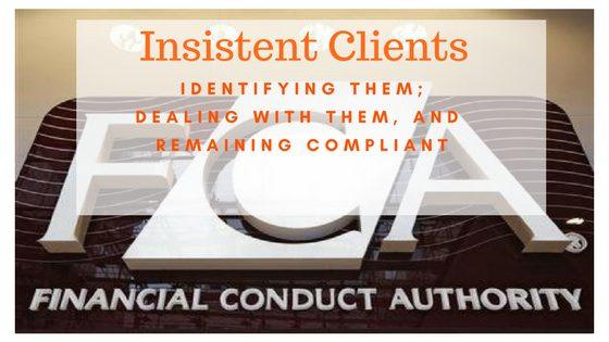 fca conduct rules cobs insistent client sales process