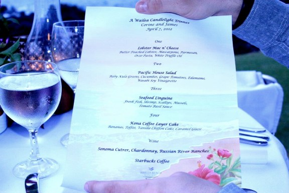 Wailea Maui Beach Candelight Dinner For Two - Best Maui Proposal Ideas