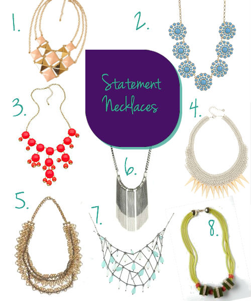 Summer Statement Necklaces- Dress Up summer closet for less 2