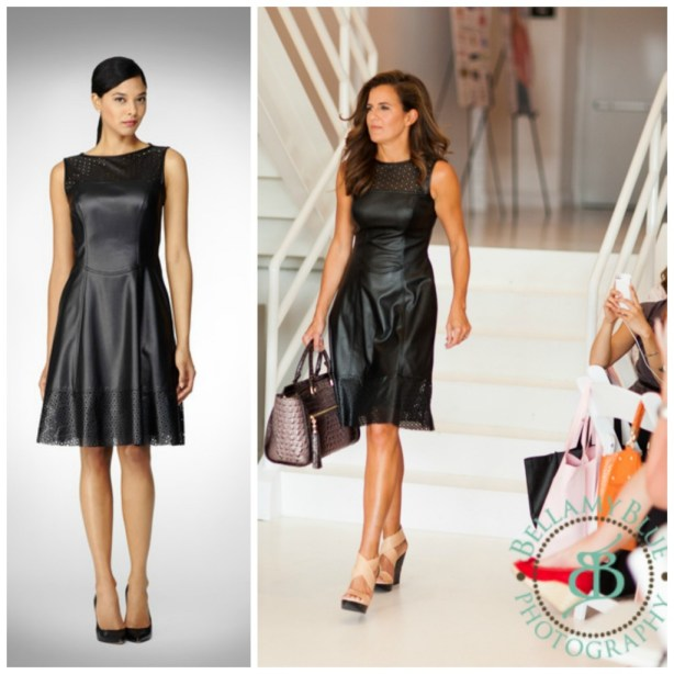 Maggie London Leather Lazer Cut Dress- Fashion Forward 2013 nyc