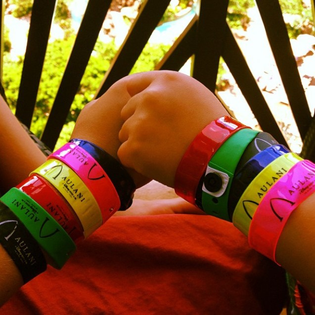 Aulani Kids Pool Wristbands