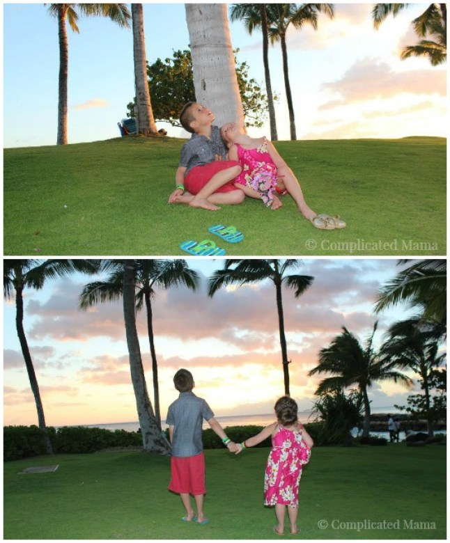Kids Sunset Hawaii
