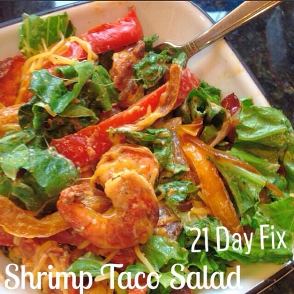 Shrimp Taco Salad - 21 Day Fix