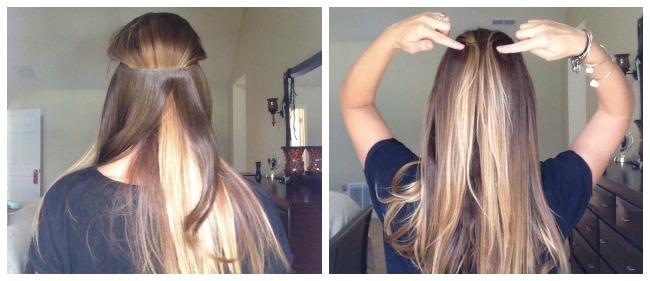 Secret Extension back of hair