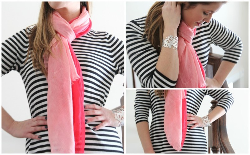 Sweater dress 3 ways with scarf