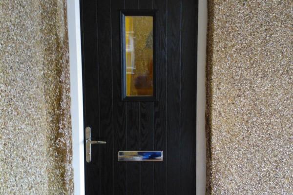 black 1 square composite door 2