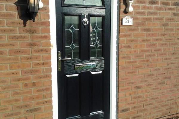 black 2 panel 2 square 1 arch Composite Door 2