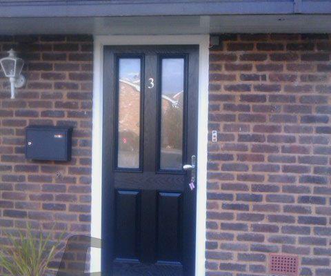 black 2 panel 2 square Composite Door