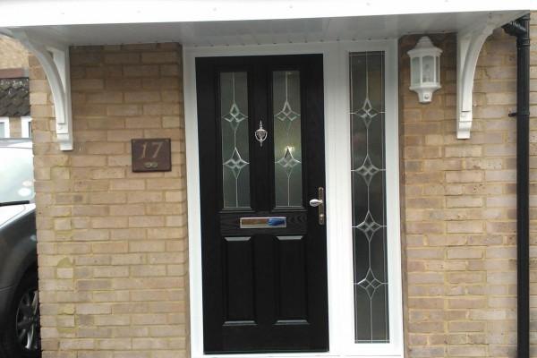 black 2 panel 2 square Composite Door 5