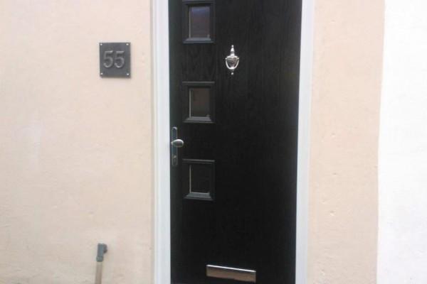 black 3 sqaure Composite Door 4